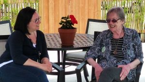 Burlington Adult Day Program Expansion - two women on patio