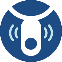 Illustrated icon of call button