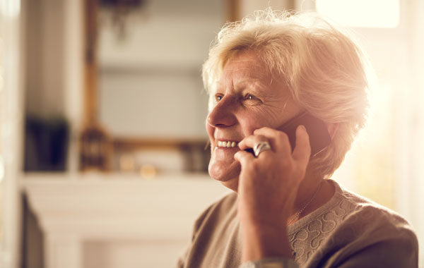 Older Woman on Phone