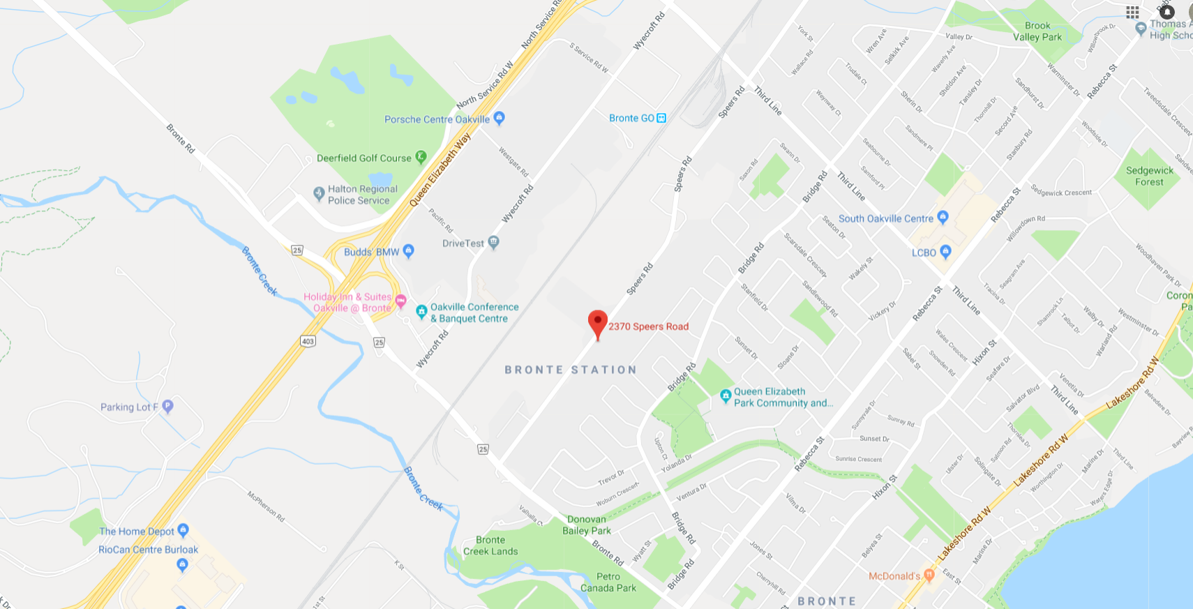 map of Oakville CCAC clinic