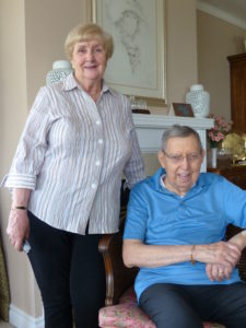 Photo of Ann Marie and John Enright together in their home.