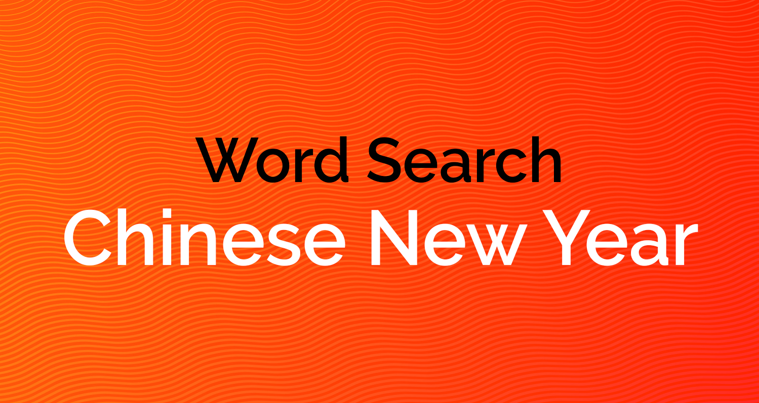 Word Search - Chinese New Year