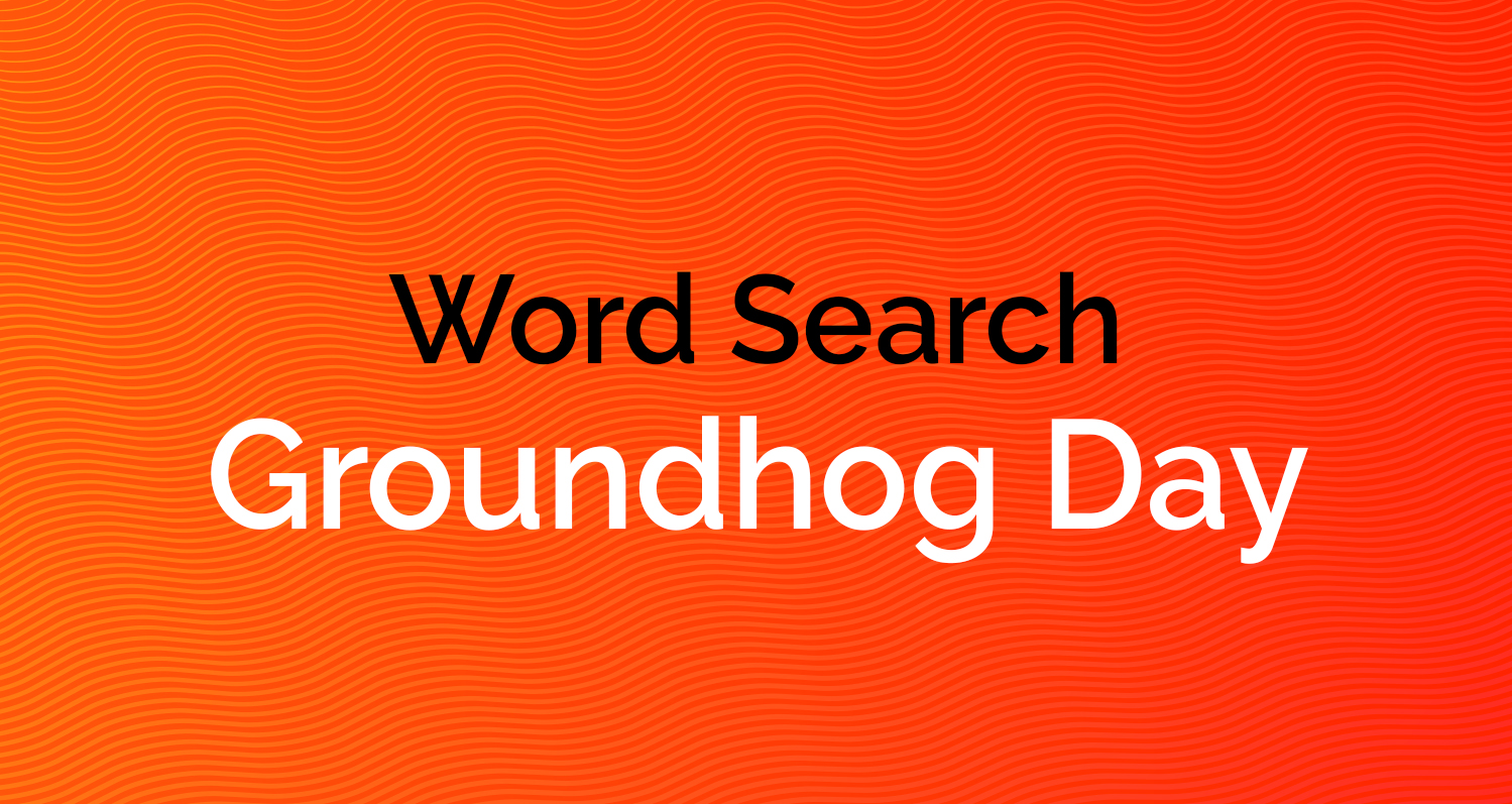 Word Search - Groundhog Day
