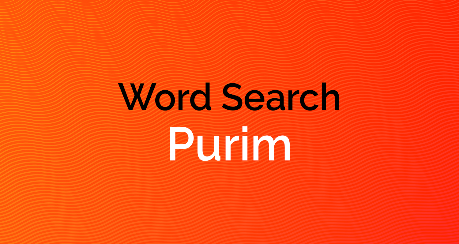Word Search - Purim