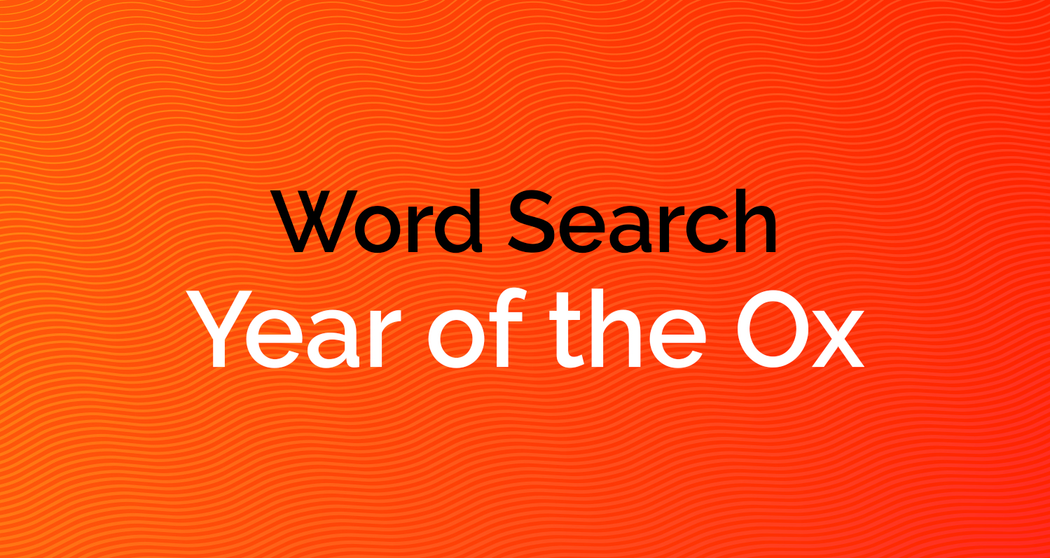 Word Search - Year of the Ox