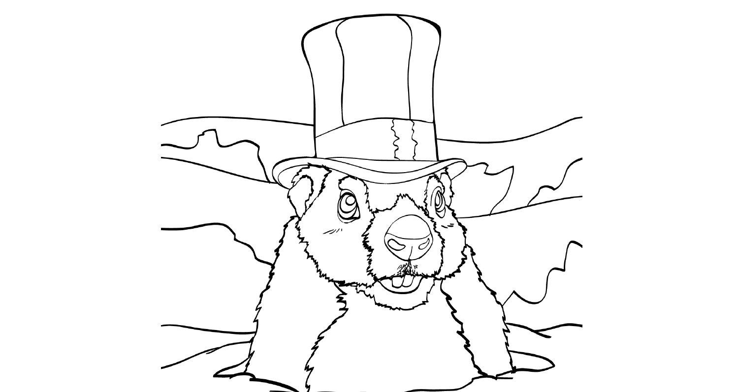 Colouring - Groundhog day 1