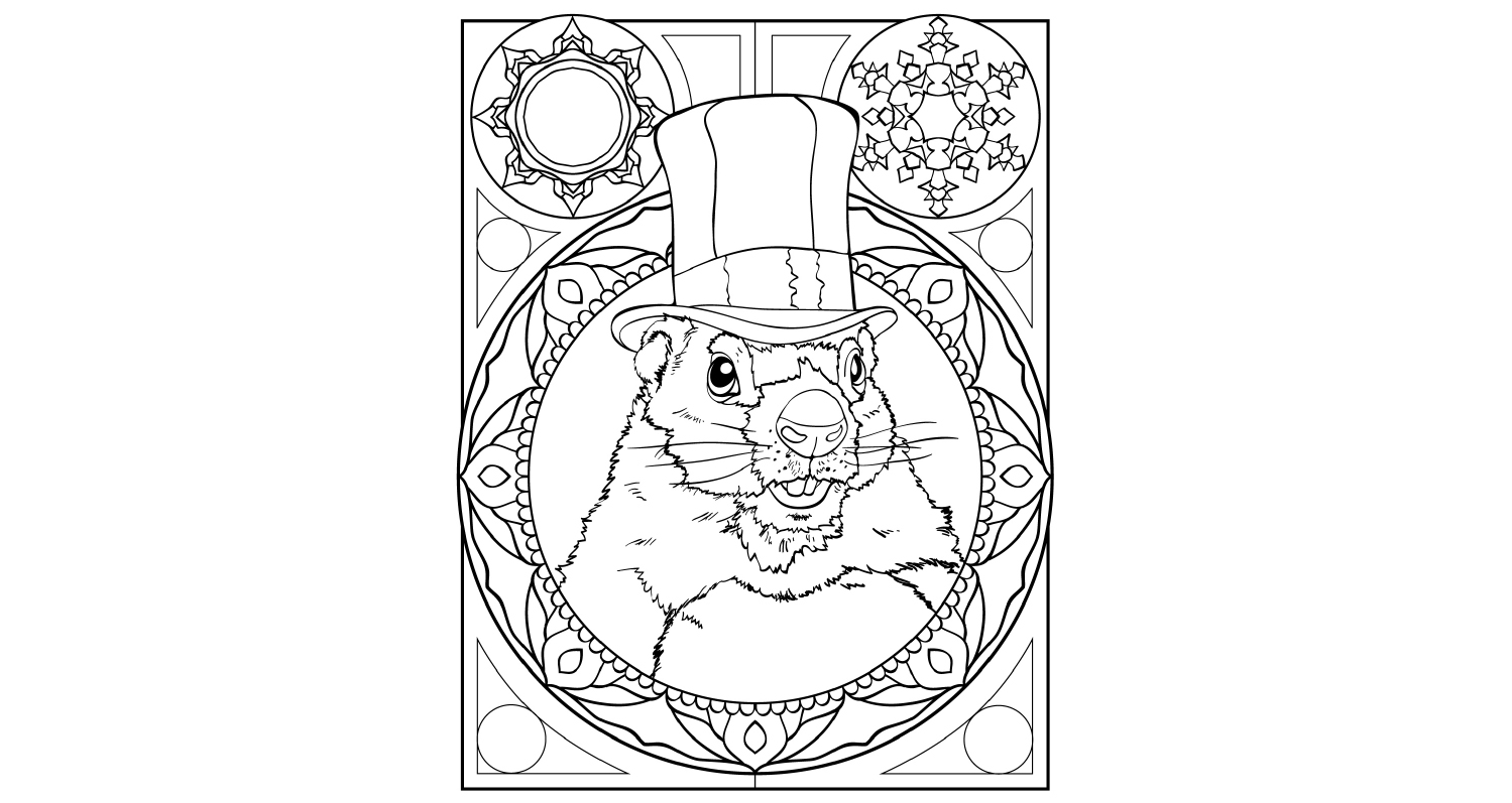 Colouring - Groundhog day 2